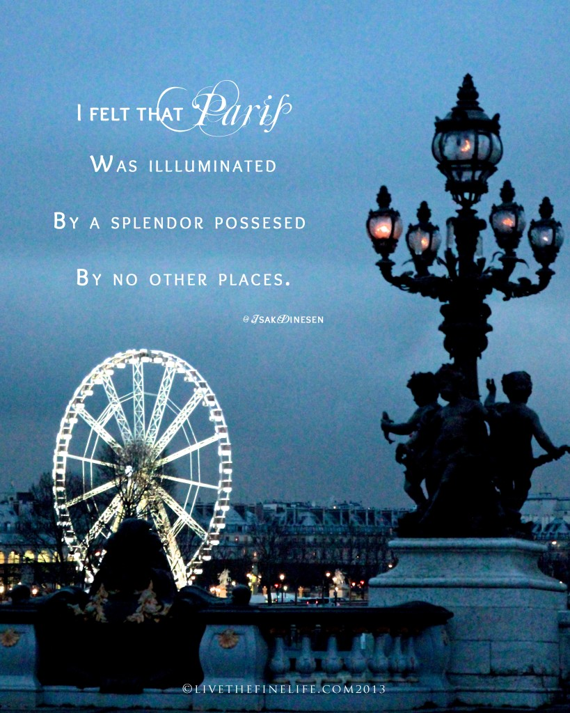 Paris Illuminated III, taken on Pont Alexandre III 01.2013 ©livethefinelife.com2013